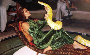 las vegas snake charmer at mgm private corporate event